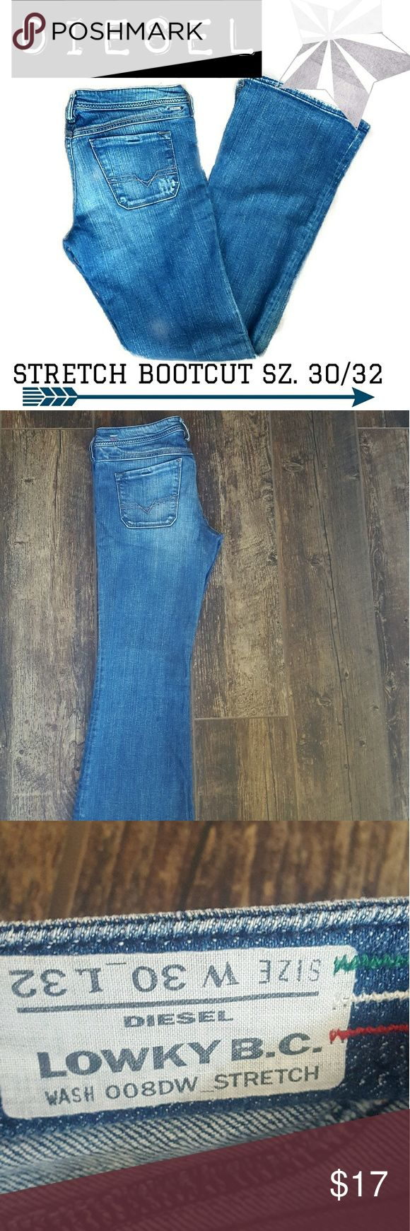 DIESEL Industry Jeans sz.30/32 bootcut Super cute bootcut jeans....and very comfortable!!!  They have a lot of STRETCH in them and they are super stylish and flattering.  No rips or stains.  I only worry them a few times Diesel Jeans Boot Cut