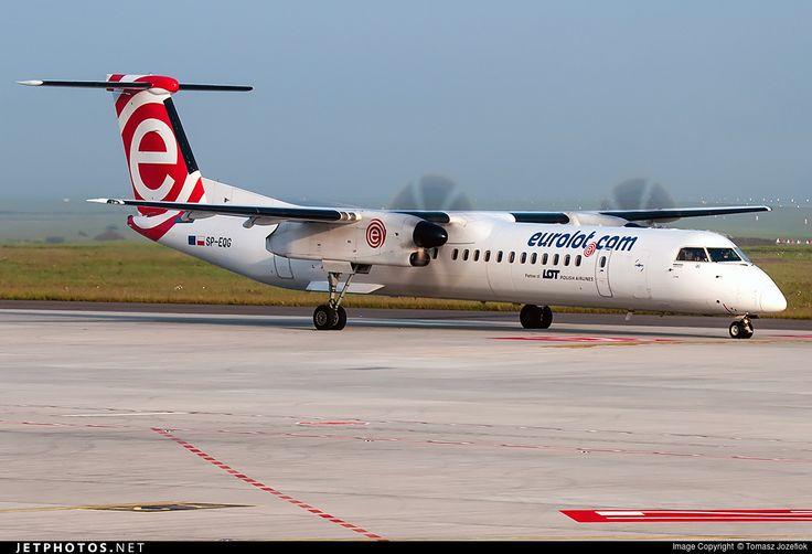 De Havilland Canada DHC-8-402Q Dash 8, LOT Polish Airlines, SP-EQG, cn 4423, 78 passengers, first flight 6/2012 (Eurolot), LOT delivered 1.4.2015. Active, for example 13.6.2016 flight Budapest - Warsaw. Foto: Katowice, Poland, 27.5.2016.