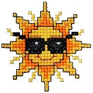 Cool sunshine free cross stitch