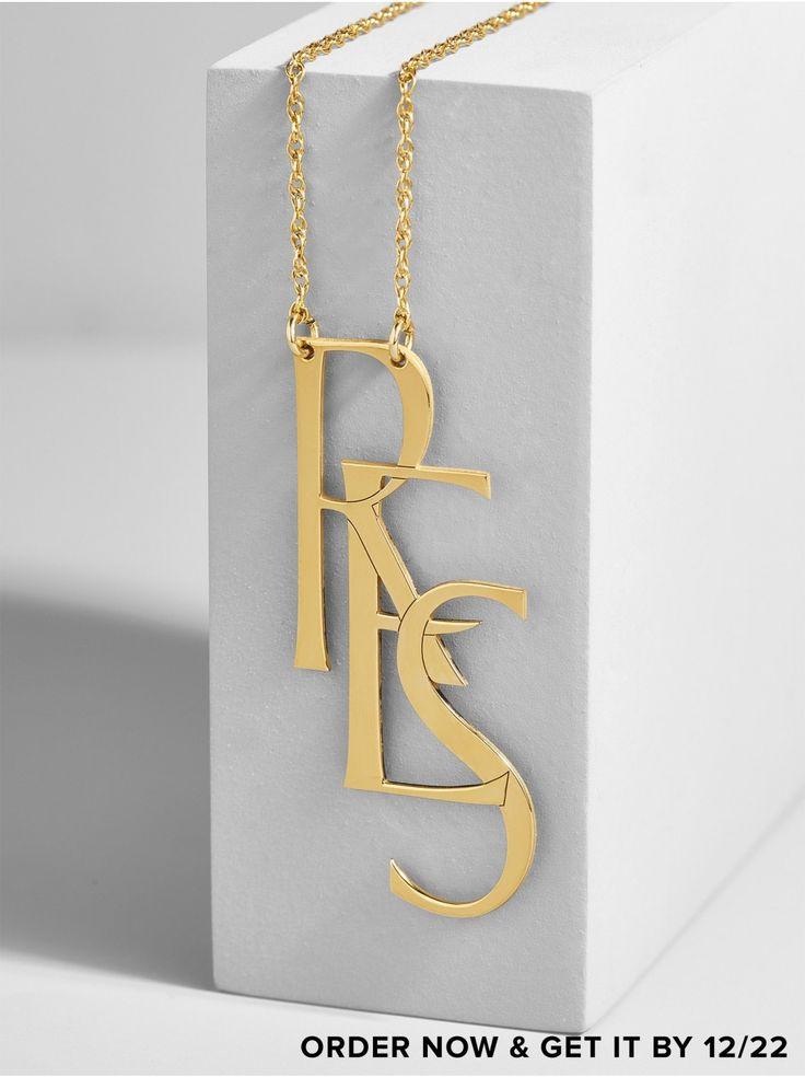 JLE  Say It Initial Pendant Necklace