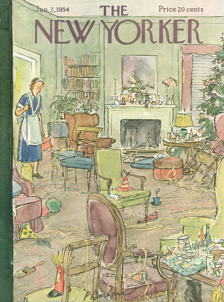 The New Yorker - Saturday, January 2, 1954 - Issue # 1507 - Vol. 29 - N° 46 - Cover by : Perry Barlow