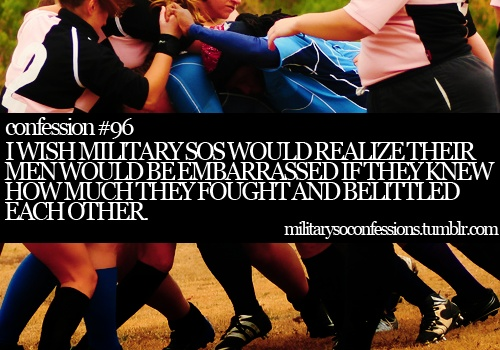 So true it is horrible how so many SOs act. They need to realize how much support and love we should be giving each other because when you get that in return it feels amazing. I was so lucky to find a group of girls to share that with.
