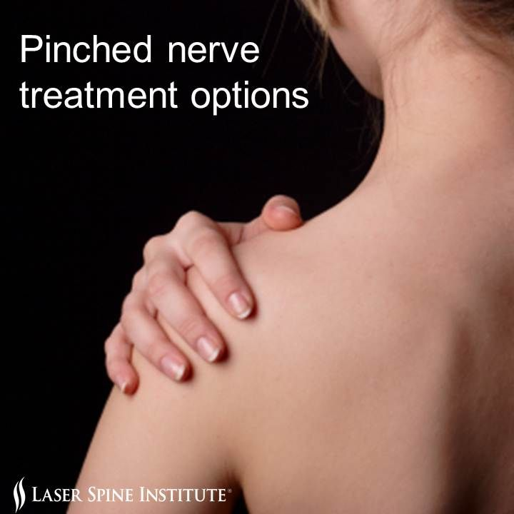how to fix a pitched nerve in back