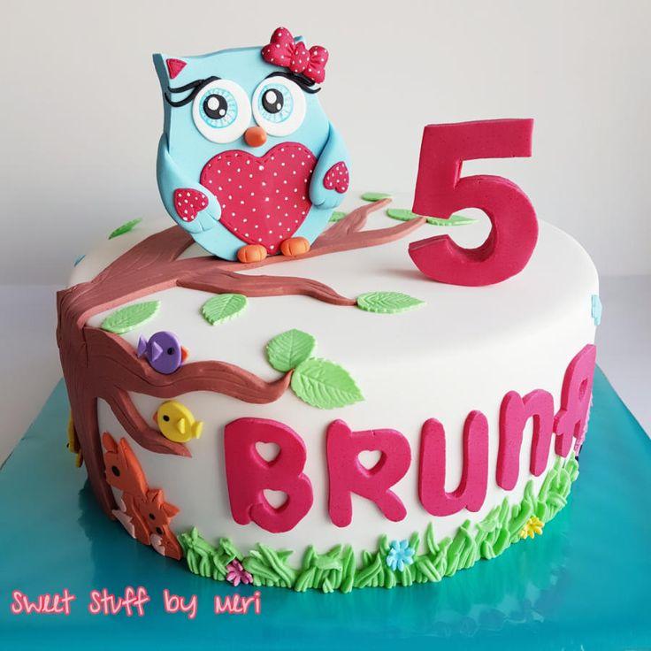 Owl cake by Meri
