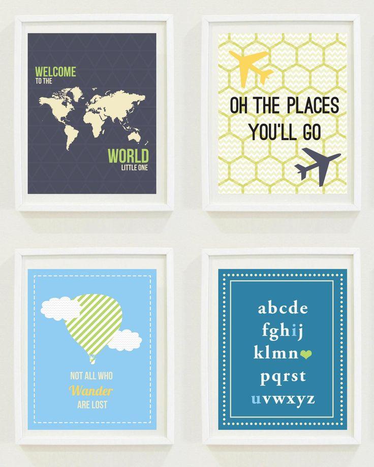 Nursery Prints: Around The World - Travel Nursery
