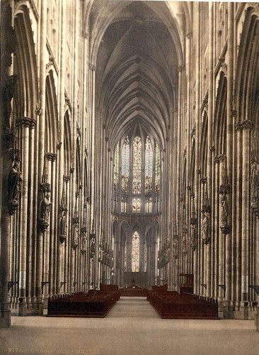 The interior of Koln Cathedral in Germany. #art #medieval