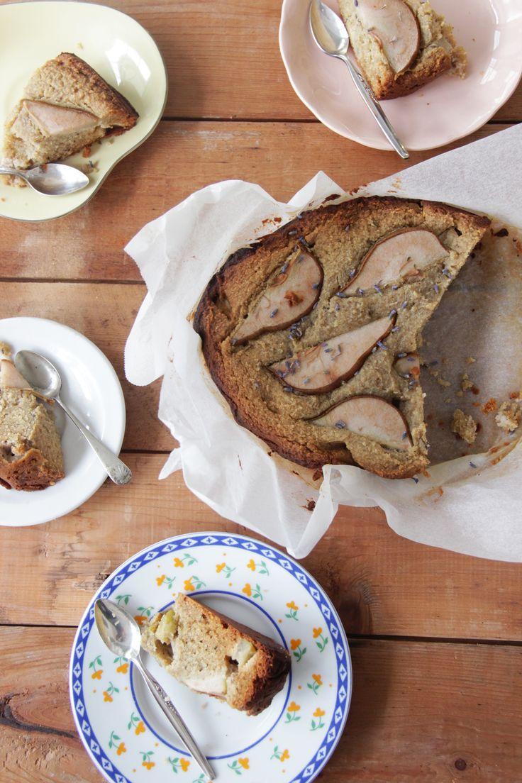 I Quit Sugar - Slow-Cooker Lavender + Pear Cake