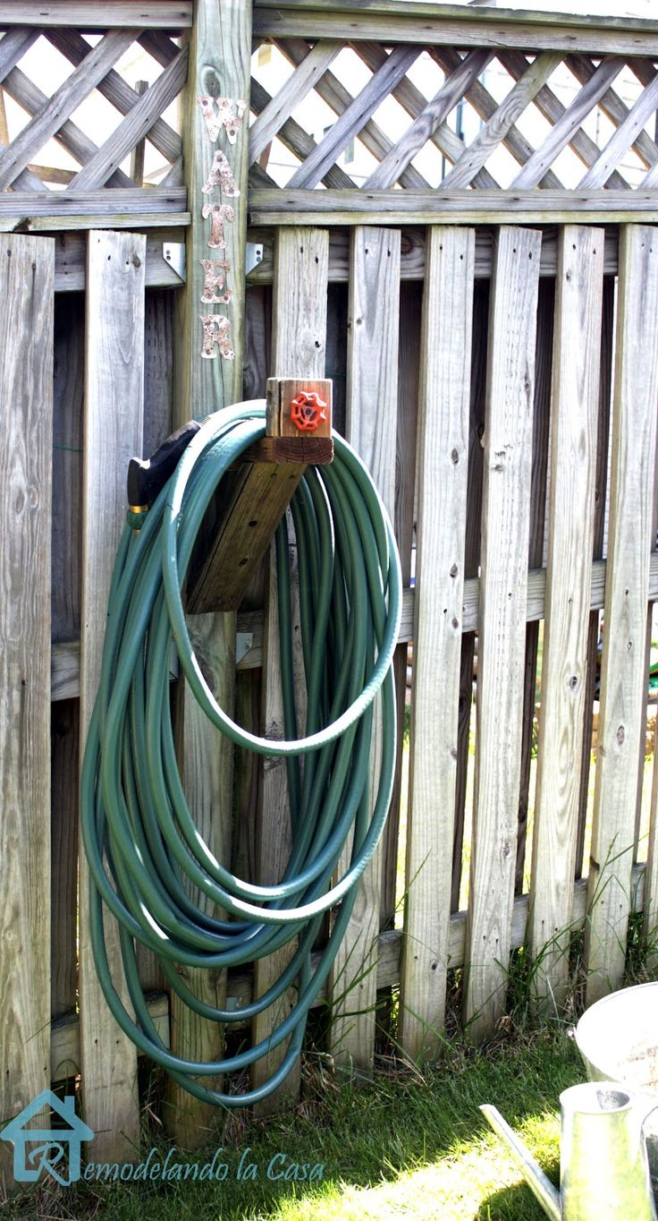 Diy Water Hose Holder Water Hose Holder Diy And