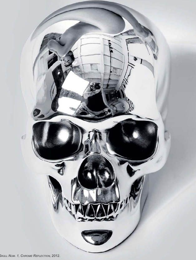 "Silver | 銀 | Plata | Gin | Argento | Cеребро | Agent | Colour | Texture | Pattern | Style | Design | Skulls: ""# by Herve Lewis, 2012."