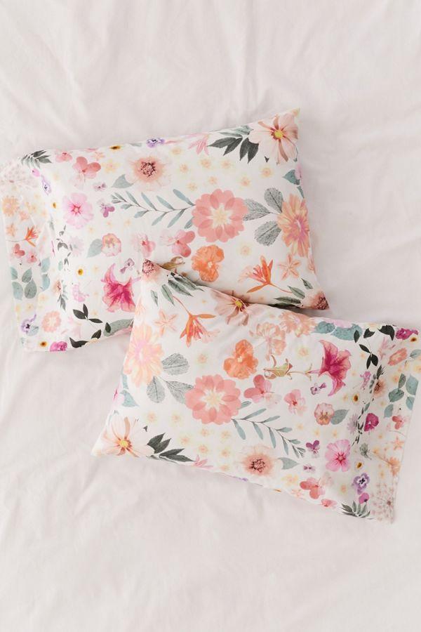 Olivia Floral Pillowcase Set Floral Pillowcase Pillow Cases Boho Eclectic Bedroom