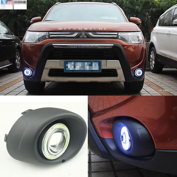 170.99$  Watch now - http://alihm8.worldwells.pw/go.php?t=32762944659 - Brand New Superb LED COB Angel Eyes+HID Lamp Projector Lens Foglights For Mitsubishi Outlander 2013 170.99$