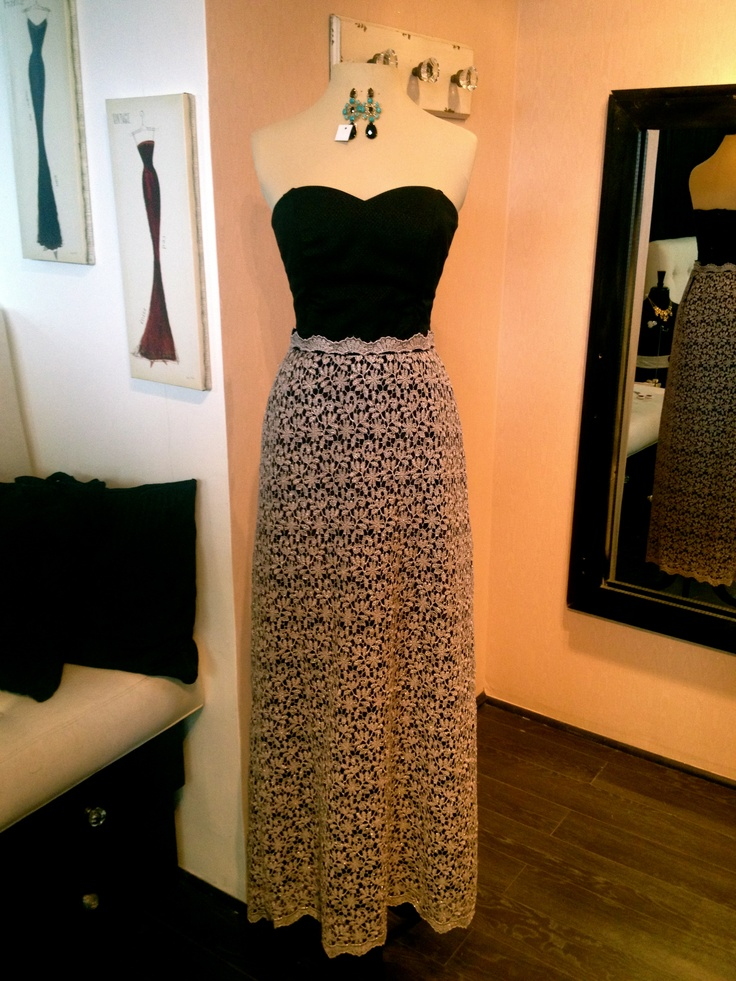 Mix match vestido b sico estilo corset con falda larga for Disenos de faldas