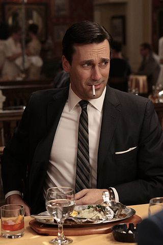 Cannot lie, LOVE me some Don Draper!! So proud that Jon Hamm finally won that Emmy tonight!!! He played the hell out of that role. I miss Mad Men :(