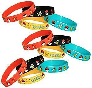 Gifts & Crafts Co Pokemon Party Supplies Silicone Wristband Bracelet Favors 12 Count