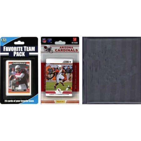C Collectables NFL Arizona Cardinals Licensed 2012 Score Team Set and Favorite Player Trading Card Pack Plus Storage Album