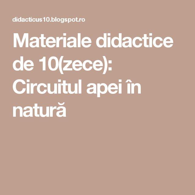 Materiale didactice de 10(zece): Circuitul apei în natură