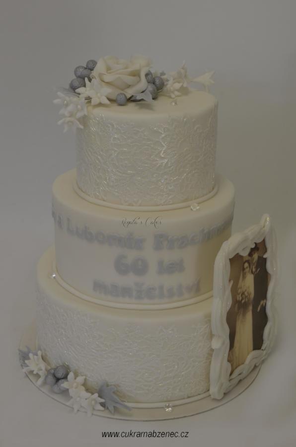 Diamond wedding - Cake by Renata