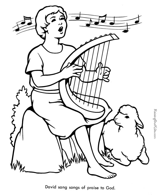 Bible Coloring Page Of David 012