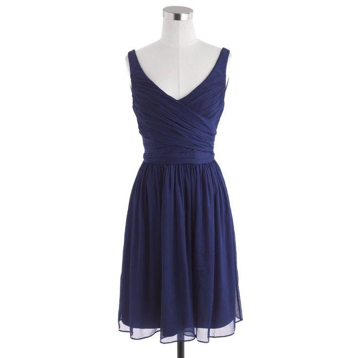 J.CREW, Heidi, Navy Silk Chiffon Dress, Bridesmaid, size 16, NWT #JCrew #EmpireWaist #Formal