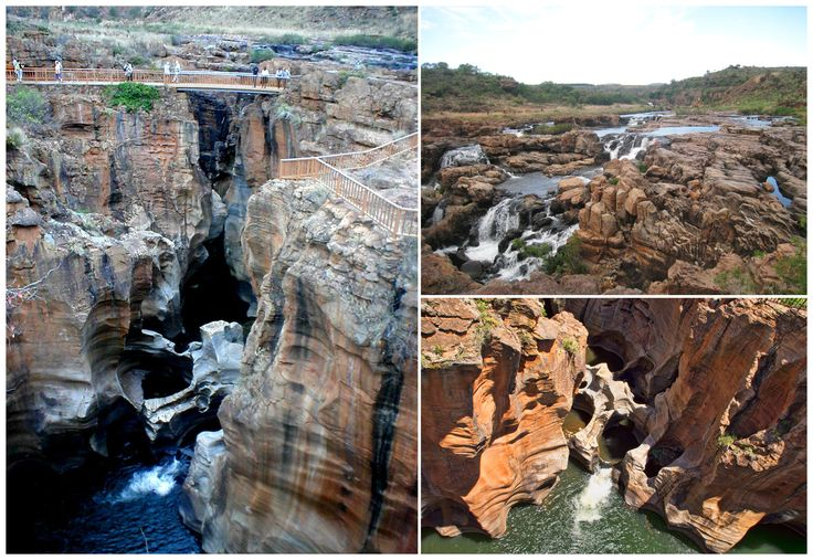 Bourke's Luck Potholes in Mpumalanga province are a series of natural geological formations that seem nearer to art than nature. Formed by centuries of water flowing through the landscape, this natural attraction is made up of inter-connected pools, interlaced with sandstone outcrops.
