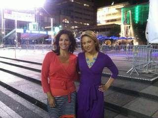 Tanya O'Rourke and Ginger Zee
