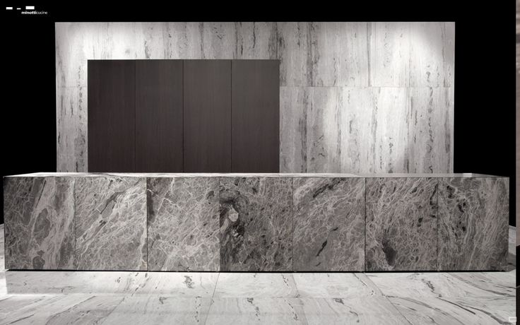 Minotti kitchen in natural stone. Nice.