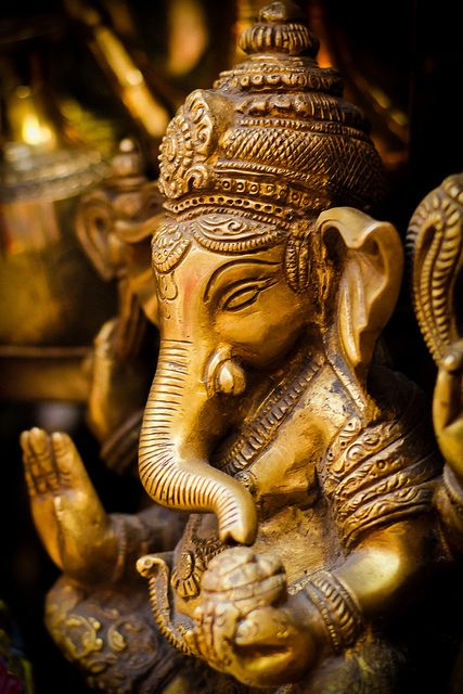Ganesh in sandalwood.