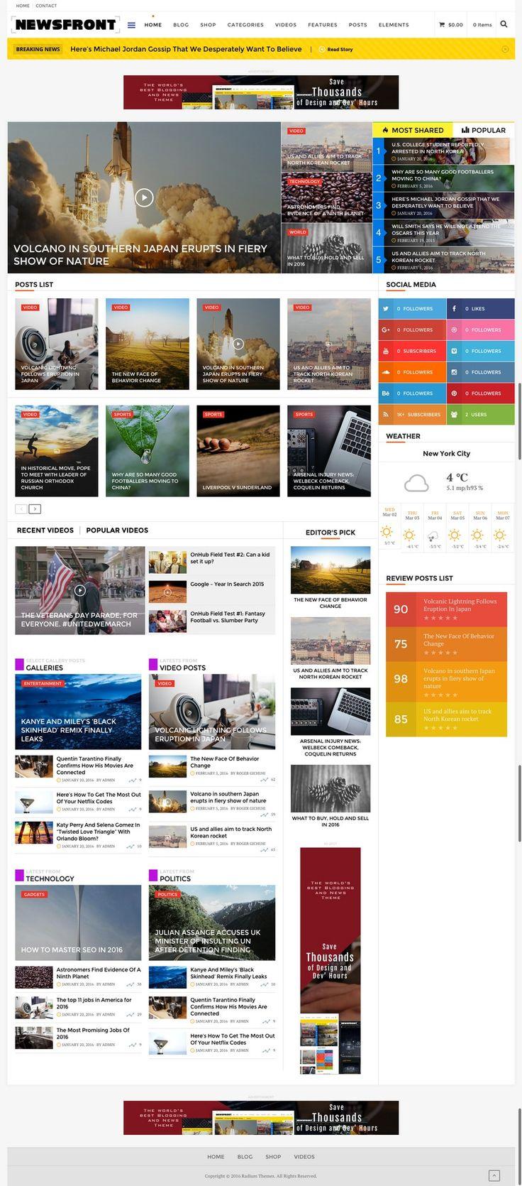 125 best news website images on Pinterest | Website designs, Design ...
