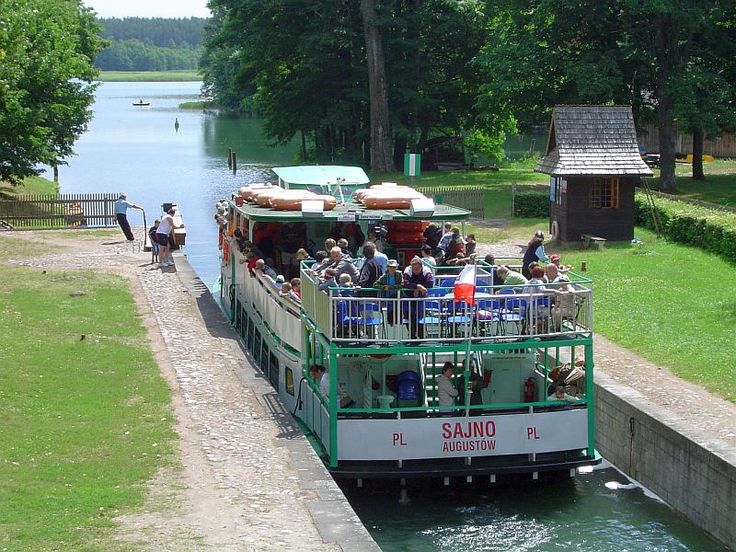 Poland. Augustow Canal, one of the lock.