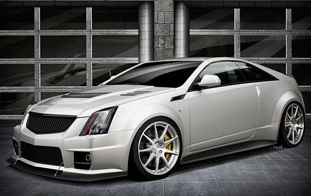 Not content with the 550+ hp of the standard Cadillac CTS-V Coupe? Well, have we got something for you. The Hennessey V1000 Twin-Turbo ($TBA) boasts an insane 1,000 hp thanks to its 427ci LS V8 engine that's paired with twin turbochargers, an air-to-air intercooler, a high-flow K&N air filter, and upgraded fuel systems for maximum performance -- like a 0-60 time of 3.5 seconds and a top speed of 230 mph.