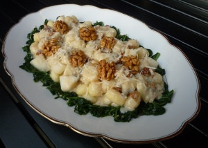 Gnocchi Gorgonzola with pear and walnuts * Gnocchi Gorgonzola met peer en walnoot