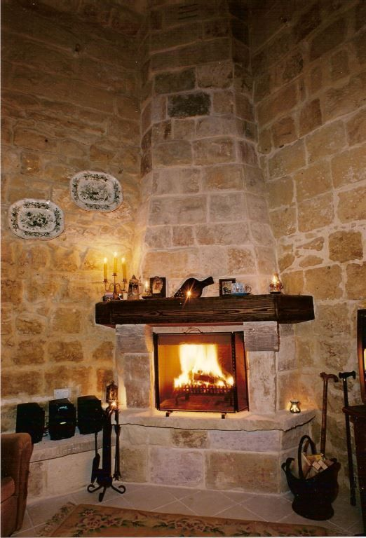 Typical Fireplace In A Maltese House Of Character Perrymt