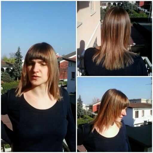 #shatush and #fringe. new hair for alessandra.