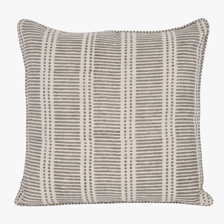 bohochic dash dot mud pillow cover from walter g this boldly modern print