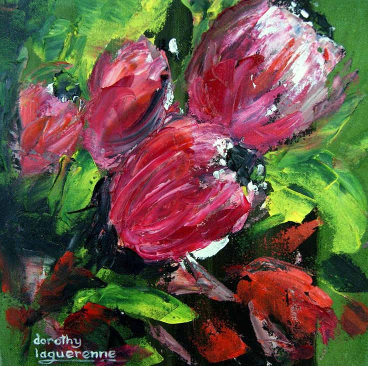 protea flowers in oils