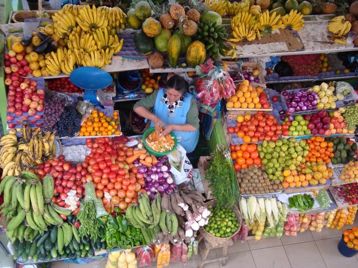 Cuenca, Ecuador flower market