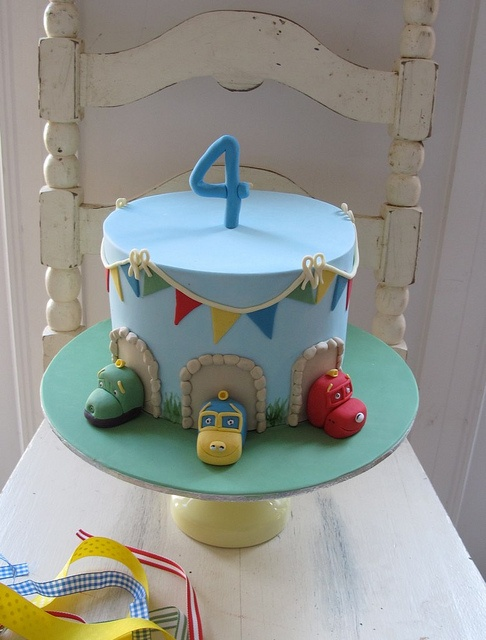 Thinking I'll have to either have two cakes for Dallas' birthday or one with the chuggington characters and theme 'little man' combined. Like this idea tho.
