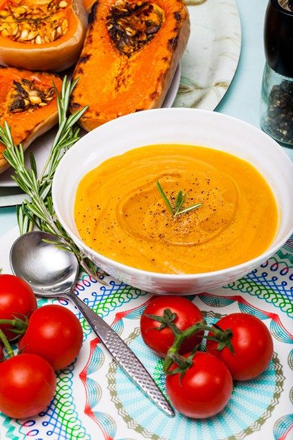 Hemsley & Hemsley: Roasted Butternut & Tomato Soup With Rosemary (Vogue.com UK)