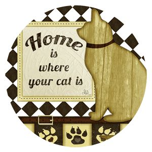 Sandstone Coaster Set - Cat's Life