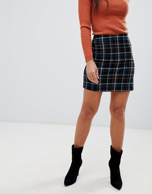 1cccea4fc New Look Petite | New Look Petite check a line skirt in black pattern