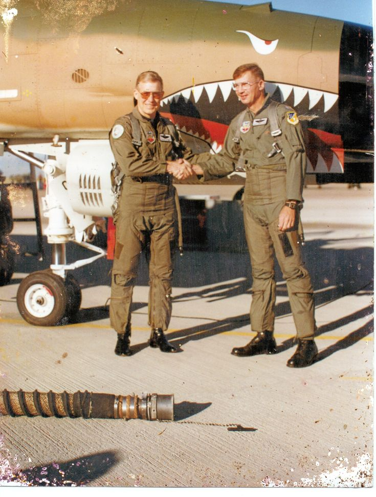Vietnam air war aces - Steve Ritchie (left) and Chuck DeBellvue (right)