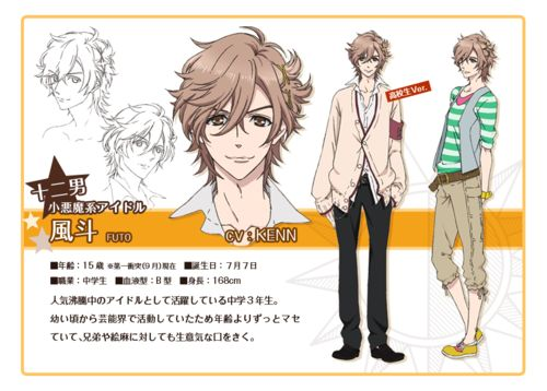 chara12 Character Designs de Brothers Conflict