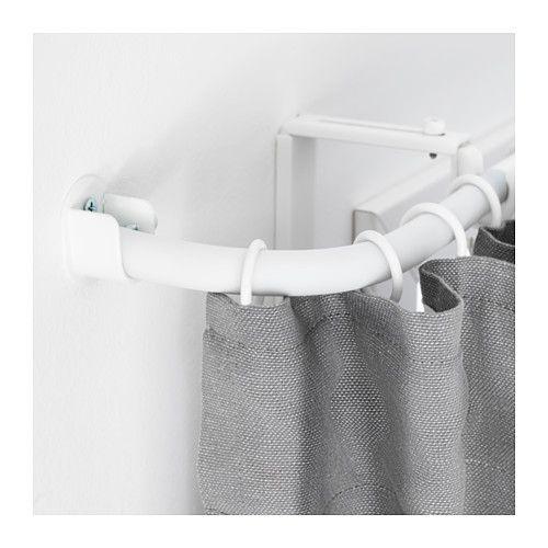 IKEA - RÄCKA, Eckverbindung für Gardinenstange, weiß,  , , Flexibel und daher perfekt für Ecklösungen oder für Erkerfenster.Zum Verlängern von Gardinenstangen bis an die Wand, für wandfüllende Fensterdekoration - inkl. Beschlag.