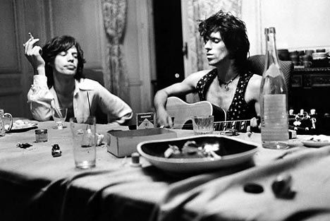 Mick & Keith in France recording Exile on Main Street.