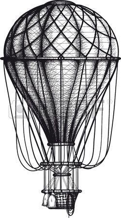 воздушный шар рисунок винтаж - Поиск в Google