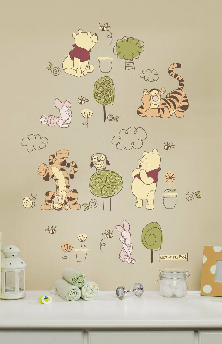 39 best images about winnie the pooh on pinterest disney for Baby pooh and friends wall mural