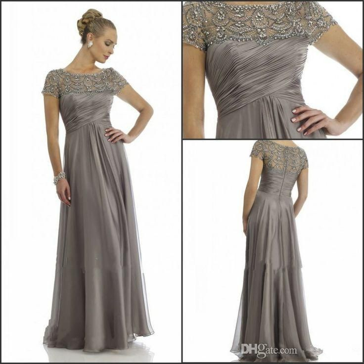 Mother Of The Bride Suits 2014 Hot Sales Long Chiffon Mother Of The Groom Dresses Short Sleeve Beading Rhinestone Ruffles Empire Scoop Neckline Floor Length Grooms Mothers Dresses From Ebelz004, $128.8| Dhgate.Com