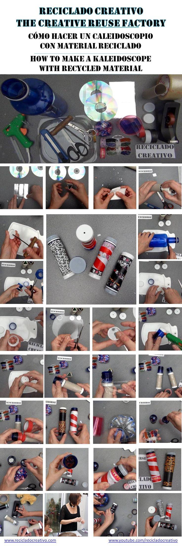 Cómo hacer un caleidoscopio con material reciclado
