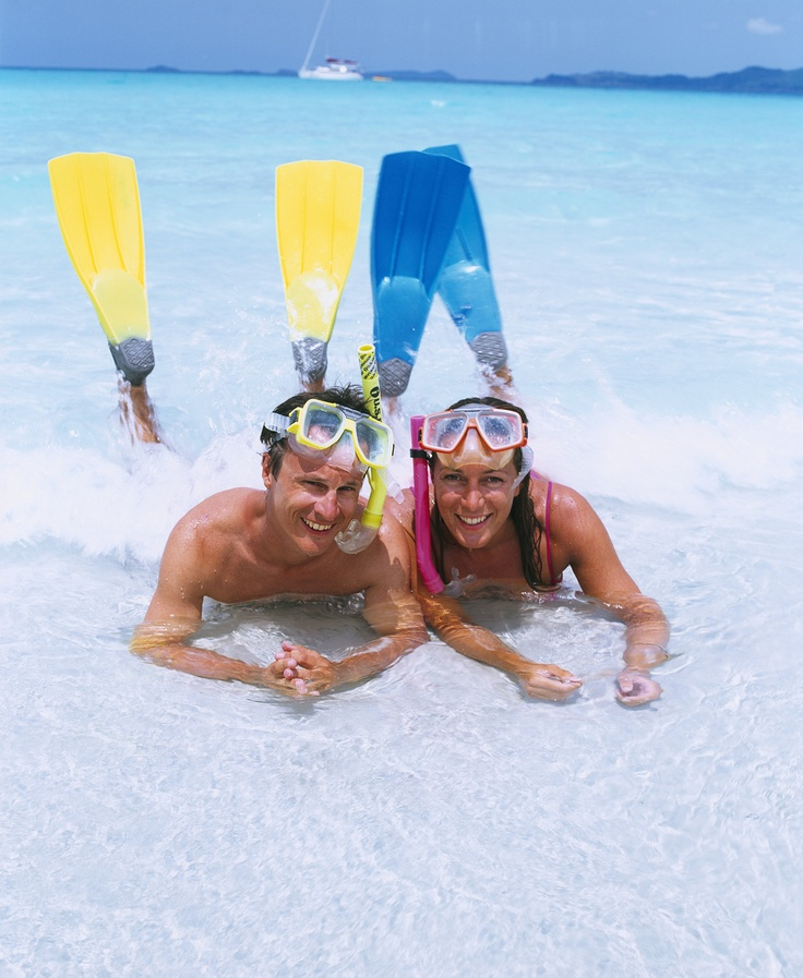 Snorkelling in Australia.