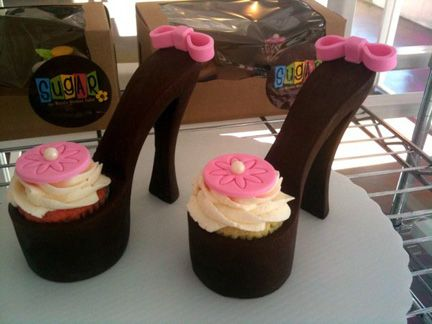 shoes cup cakes ..... cute :d